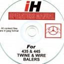 INTERNATIONAL HARVESTER 435 / 445 BALER PART CATALOGUE ON CD