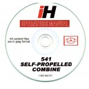 INTERNATIONAL HARVESTER 541 COMBINE OPERATOR'S MANUAL ON CD