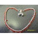 GENUINE INDIAN GYPSY ANKLET WITH SMALL RED BEADS