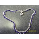 GENUINE INDIAN GYPSY ANKLET WITH SMALL BLUE BEADS