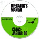 CLAAS JAGUAR 60 OPERATOR'S MANUAL ON CD
