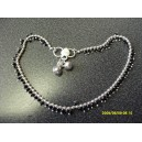GENUIE INDIAN GYPSY ANKLET WITH SMALL BLACK BEADS GOTH MAYBE
