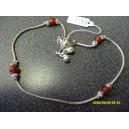 INDIAN ANKLET WITH RED BEADS