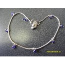 A ROUND CHAIN WITH DARK BLUE BEADS ANKLET C5