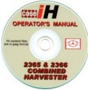 CASE 2365 & 2366 COMBINE OPERATOR'S MANUAL ON CD