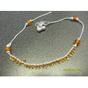 INDIAN ANKLET WITH SMALL & LARGE AMBER BEADS C7
