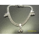 CHUNKY CHAIN ANKLET WITH BALLS D4