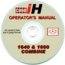 CASE INTERNATIONAL 1640 & 1660 COMBINE OPERATOR'S MANUAL ON CD