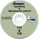 LAMBORGHINI 115 / 135 OPERATING & MAINTENANCE MANUAL ON CD