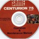 SAME CENTURION 75 OPERATION & MAINTENANCE MANUAL ON CD