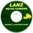 LANZ MD18S COMBINE MANUAL OF INSTRUCTIONS OC CD