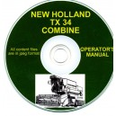NEW HOLLAND TZ34 OPERATOR'S MANUAL ON CD