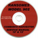 RANSOMES 902 COMBINE SERVICE MANUAL ON CD