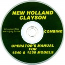 NEW HOLLAND CLYSON 1540 & 1550 COMBINE OPERATOR'S MANUAL ON CD