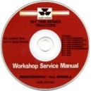 MASSEY FERGUSON 1000 SERIES TRACTORS WORKSHOP SERVICE MANUAL ON CD