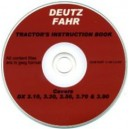 DEUTZ FAHR DX 3.10, 3.30, 3.50, 3.70, 3.90 TRACTOR OPERATING MANUAL ON CD