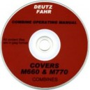 DEUTZ FAHR M660, M770 COMBINE OPERATING MANUAL ON CD