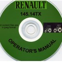 RENAULT 145-14 TX TRACTOR HANDBOOK ON CD