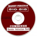 MASSEY FERGUSON 510 - 515 COMBINE OPERATOR'S INSTRUCTION BOOK ON CD