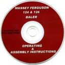 massey ferguson 124 / 126 baler operating & assembly intructions on cd