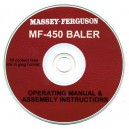 MASSEY FERGUSON 450 BALER OPERATING MANUAL & ASSEMBLY MANUAL ON CD