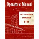 REPRINT OF McCORMICK 8-41 COMBINE OPERATOR'S MANUAL