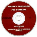 MASSEY FERGUSON 750 COMBINE OPERATING & ASSEMBLY ,AMUAL ON CD
