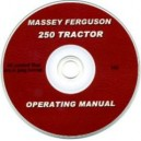 MASSEY FERGUSON 250 TRACTOR OPERATING MANUAL ON CD