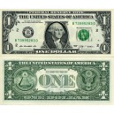 "GENUINE USA DOLLAR BILLS, ""B"" SERIES"" CRISP & MINT."