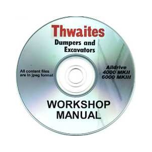 THWAITES ALLDRIVE 4000 MKII & 6000 MKIII WORKSHOP SERVICING MANUAL ON CD