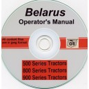 BELARUS 500, 800, 900 TRACTOR OPERATOR'S MANUAL ON CD