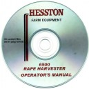 HESSTON 6500 TRACTOR / RAPE HARVESTER OPERATOR'S MANUAL ON CD
