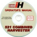 CASE 521 COMBINE OPERATOR'S MANUAL ON CD