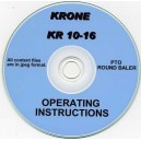 KRONE KR 10-16 ROUND BALER OPERATING INSTRUCTION ON CD