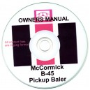McCORMICK B-45 BALER OWNER'S MANUAL ON CD