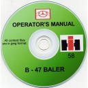 McCORMICK B-47 BALER OPERATOR'S MANUAL ON CD