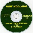NEW HOLLAND 840 BALER OPERATOR'S MANUAL ON CD