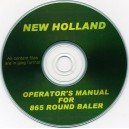 NEW HOLLAND 865 OPERATOR'S MANUAL ON CD