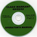 CLAAS MARKANT 65/55/52 OPERATOR'S MANUAL PART 2