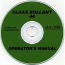 CLASS ROLLANT 44 BALER OPERATOR'S MANUAL ON CD
