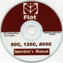 FIAT 90C, 120C, 805C, 3 POINT CRAWLER TRACTOR OPERATOR'S MANUAL ON CD