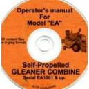 ALLIS CHALMERS EA GLEANER COMBINE OPERATOR'S MANUAL