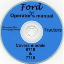 FORD 6710 & 7710 OPERATOR'S MANUAL ON CD (RARE)