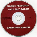 MASSEY FERGUSON 703, 10.7 BALER OPERATING MANUAL ON CD