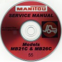 MANITOU MB21C & MB26C FORKLIFT SERVICE MANUAL ON CD
