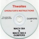 THWAITES MACH 564 & 565-5 DUMPERS OPERATING INSTRUCTIONS ON CD