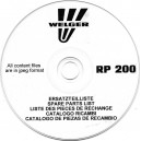 WELGER RP200 BALER PARTS LIST ON CD