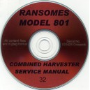 RANSOMES 801 SERVICE MANUAL ON CD