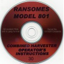 RANSOMES 801 OPERATOR'S INSTRUCTIONS ON CD