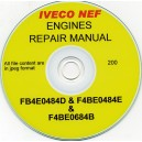 IVECO ENGINE REPAIR MANUAL FOR FB4E0484D, F4BE0484E & F4BE0684B ON CD